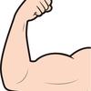 二頭筋のパンプアップ方法とパンプアップ前後での腕周り測定実施