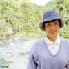 日本 背景は日当の根尾川渓谷