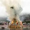 【白山さん】毎年1月15日は白山比咩神社で左義長祭とどんど焼きが行われるよ