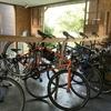自転車置場、屋根付きです。
