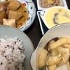 昨日の煮物と油揚げと大根と椎茸の味噌汁