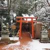 雪景色シリーズ(その4)「逆さ狛犬」