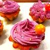 『バナナマフィンの紫芋バタークリームのせ』の作り方