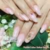 美爪さんのワンカラーネイル♡スモーキーピンクのうる艶カラーで潤いのある指先に☆ジェル