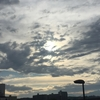 今朝は曇り空