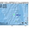 2016年08月12日 13時27分 小笠原諸島西方沖でM5.9の地震