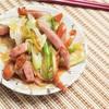 「簡単なあと一品」長ネギとウィンナーの炒め物のレシピ