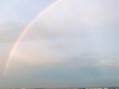 晴海運河ランニング〜大きな虹を見てから出発〜