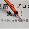 英語のプロが実践!ペラペラになる英語学習法