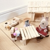 ログハウス建てました!ベッドや椅子などの家具も作ったよ!ブロック感覚で作れるグルーガン工作が楽しい♪