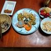 幸運な病のレシピ( 2501 )昼:揚げ物軍団(鳥、スコッチ里芋、セロリ、色々と)