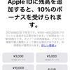 Apple ID入金で10%ボーナスキャンペーン:9月2日までの期間限定