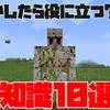 【マイクラ】もしかしたら使えるかも知れないMinecraftの豆知識10選!!【便利テクニック】