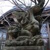 たまたま立ち寄った神社に逆さ狛犬がいた