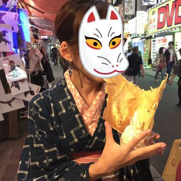 【毎日着物】上野で鯛焼きを食べる