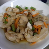 幸運な病のレシピ( 1332 )朝:鶏もものロール煮、生姜焼き、鮭、塩サバ、味噌汁、サラダバー(笑)、サクランボ(池のろ過装置なおしたらもらった)