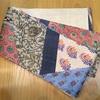 タッサーシルクの半巾帯とレースの羽織