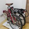 おりたたみ自転車の可搬性を高めたい【無印良品の台車で室内転がし保管】