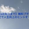 【3月末日まで】無料プチ鑑定で人生向上のヒントを!