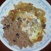 親子丼の上を行く「家族皿」