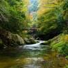 裏匹見峡の紅葉を撮る。