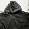 私の古着から1990年代と思われる『Hanes(ヘインズ)』の黒色プルオーバーパーカーをご紹介。見た目やタグの特徴・年代、着こなしなどを書きました