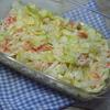 レンジキャベツとかにかまの粒マスタードマヨサラダ