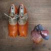 ヌメ革を育てる靴?