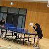 卓球は試合…実戦が一番の練習
