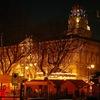 クリスマスの夜、アヴィニョンを歩く: アヴィニョン、フランス