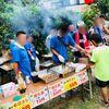 夏祭りで焼き鳥を売りまくった親父の会。