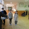 4年生:福祉体験教室① 講師の案内、開会式