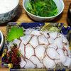今日の食べ物 夜食に蛸の刺身