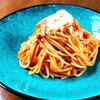 本日のおうちランチはスパゲッティミートソース♪