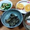 茄子味噌炒めとキュウリと明太子鰯