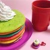 レインボーホットケーキの作り方🥞