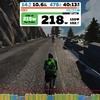 Alpe du Zwiftでワークアウト