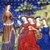 中世ヨーロッパ 貴族女性のドレス