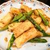 【1食226円】ロールイカとアスパラのガリバタオイスターソース炒めの自炊レシピ