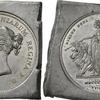 イギリス1839年ヴィクトリア5ポンド金貨用 試し打ち鉛板