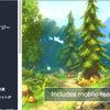 Hand Painted Forest Pack 冒険心をくすぐる崖から流れる滝と遺跡。自然いっぱいの3Dモデル素材集
