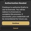 Draftsから、Evernoteに1日1ノート形式で追記したい