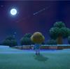 満月の夜の流れ星【あつ森日記】