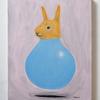 熊、チワワの次はウサギが風船に入っている絵を描きました