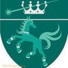 湖上馬の紋章。流れ星と。