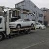 桜区からパンクの車検切れ不動車をレッカー車で廃車の引き取りしました