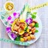 パイナップル甘酢鶏串☆★カワイ美味し!いろいろフルーツボート