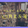 【つんどく月末反省会】6月 : タピオカよりもナタデココ派