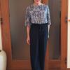 オールシーズン&一生履ける定番の黒パンツ!美脚に見えてフリーサイズって?