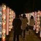 京都嵐山の昼と夜。ライトアップ「花灯路」(12月上旬限定)を少しだけ見てきた。